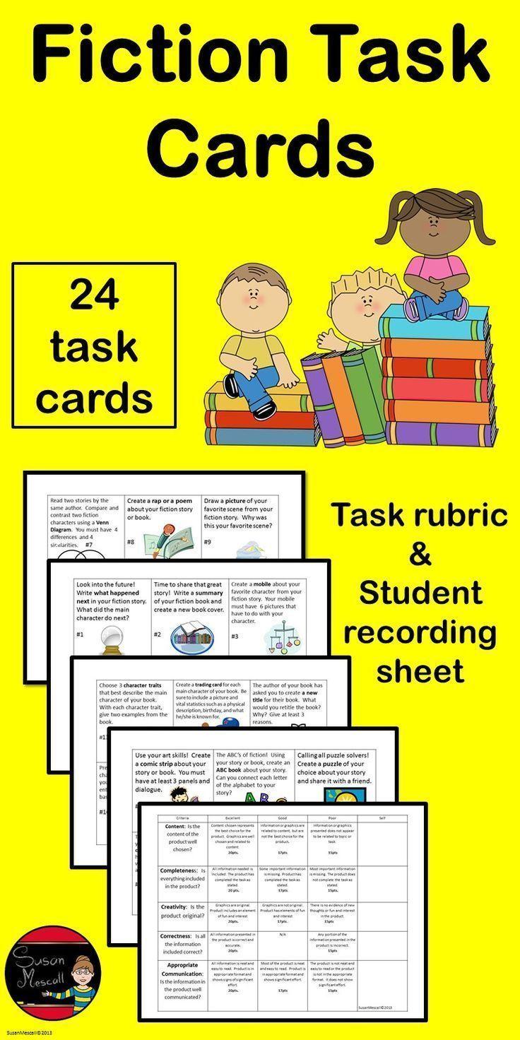 Reading Comprehension Task Cards Fiction Reading Comprehension Task Cards Reading Task Cards Task Cards [ 1472 x 736 Pixel ]