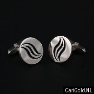 #Marbles - Inspired by the cd off #Marillion - Jewellery - Handmade Sterling silver #Cufflinks (18,5mm)- CLMAR185 - Designed by Karin Hengeveld - to order check - www.CariGold.nl