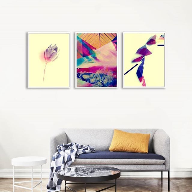 Succulent abstract painting and origami inspired composition. An unusual trio isn't it? Just love how these natural and imaginative shapes complements each other. . . . .  #gallerywall #gallerywalls #gallerywalldecor #gallerywallart #myhouzz#uohome #gallerywallinspo #gallerywallprints  #succulentlover #origamilover #homeswithheart#showmehowyoustyle #interiorstyling  #livecolorfully #artforthehome #hotelart #atmine #apartmenttherapy#abstracts#currentdesignsituation #stylishhome…