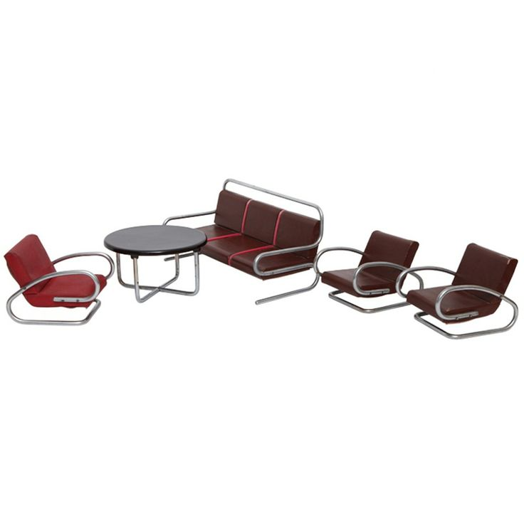 Rare Jindrich Halabala Miniature Salesman Sample Furniture c1930's