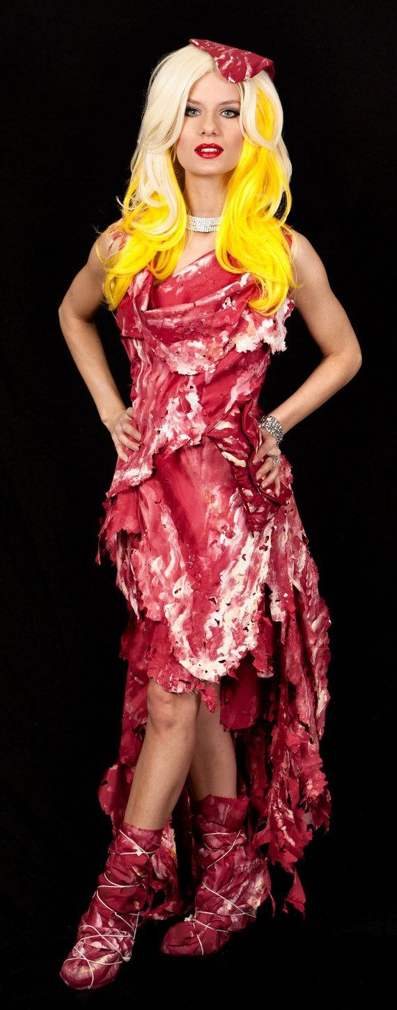 Lady Gaga's meat dress costume!