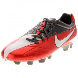 Mens Nike T90 Laser IV KL Soccer Cleats Red Leather - ONLY $204.99