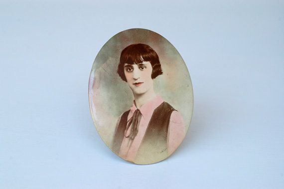 1920s French ART DECO picture frame / oval colour by BOULOTDODO