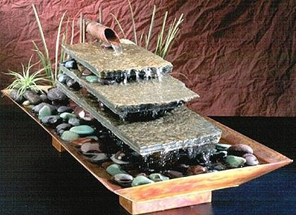 A wonderful table-top water fountain is a marvelous addition to your commercial space indoors.   Visit our site at http://www.waterfeaturesupply.com/waterwalls/tabletop-water-fountains.html to get all the details about this table-top waterfall lfountain.