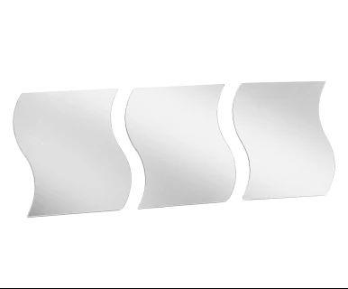 Set di 3 specchi adesivi quadrati in vetro