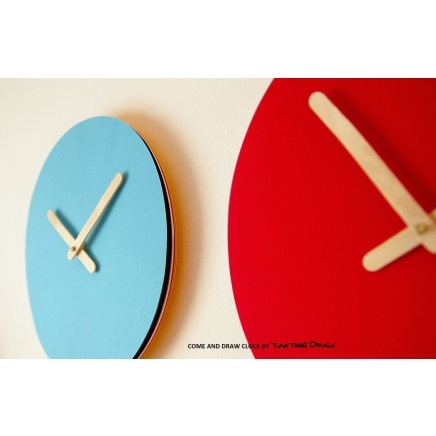 come and draw clock, tian tang, scandinavian kids design,