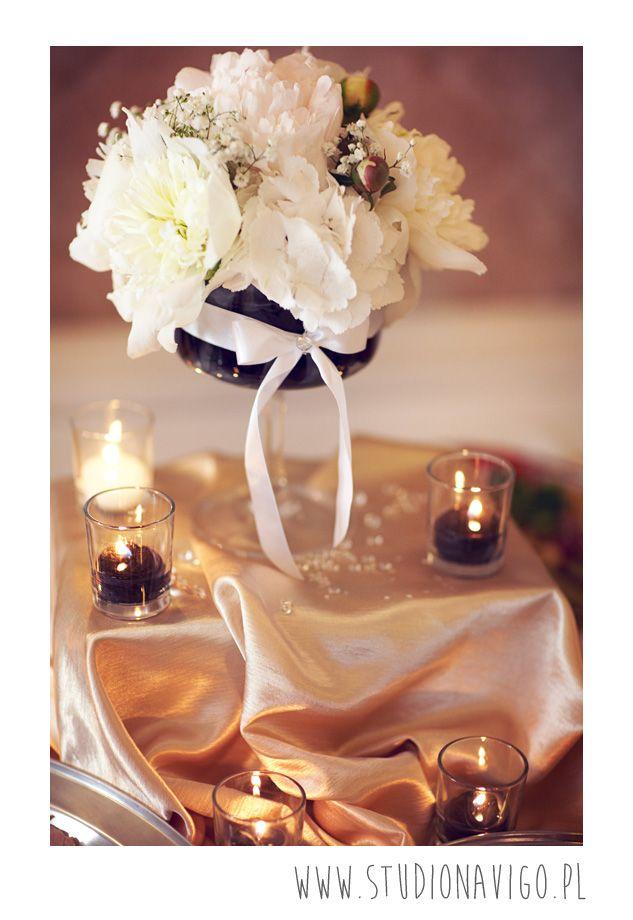 wystrój stołu na weselu  l  wedding decor