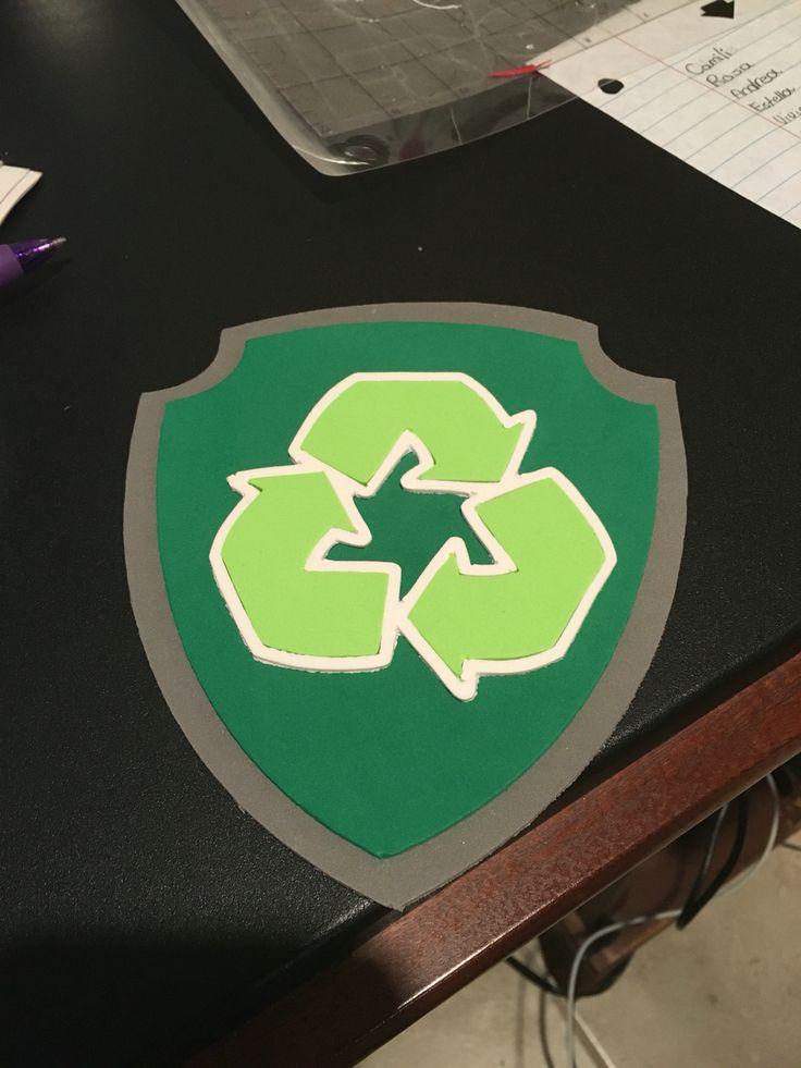 "Paw Patrol inspired foam badge ""Rocky"""
