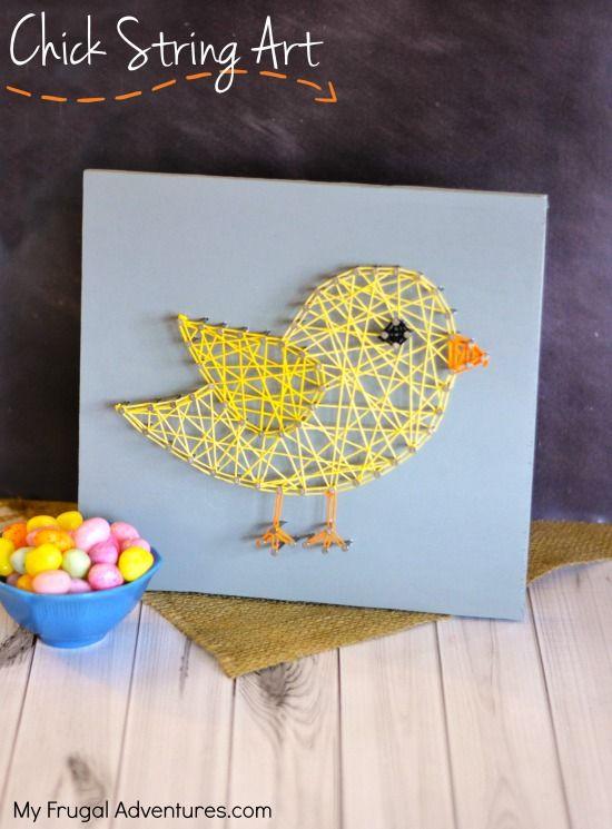 Chick String Art
