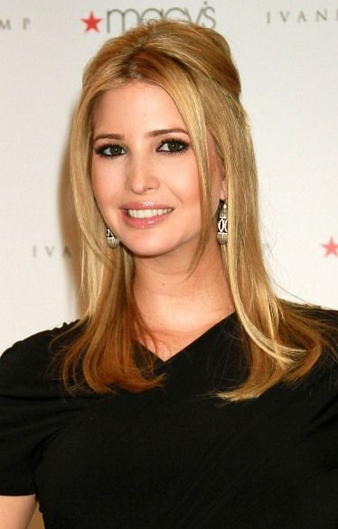 Ivanka Trumps partial updo hairstyle  so nice, i want my hair back!!