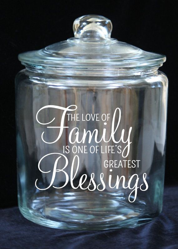 Family Blessing/Gratitude Jar 1 Gallon Glass Cookie by JoyousDays