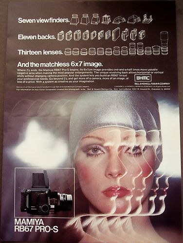 1976 Vintage Photography Ad Mamiya RB67 Pro s Camera | eBay