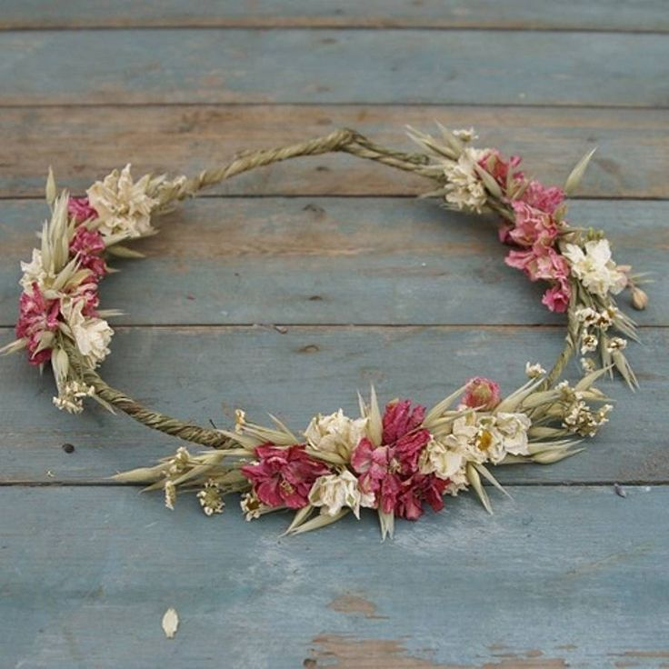 rustic country dried flower hair circlet by the artisan dried flower company   notonthehighstreet.com