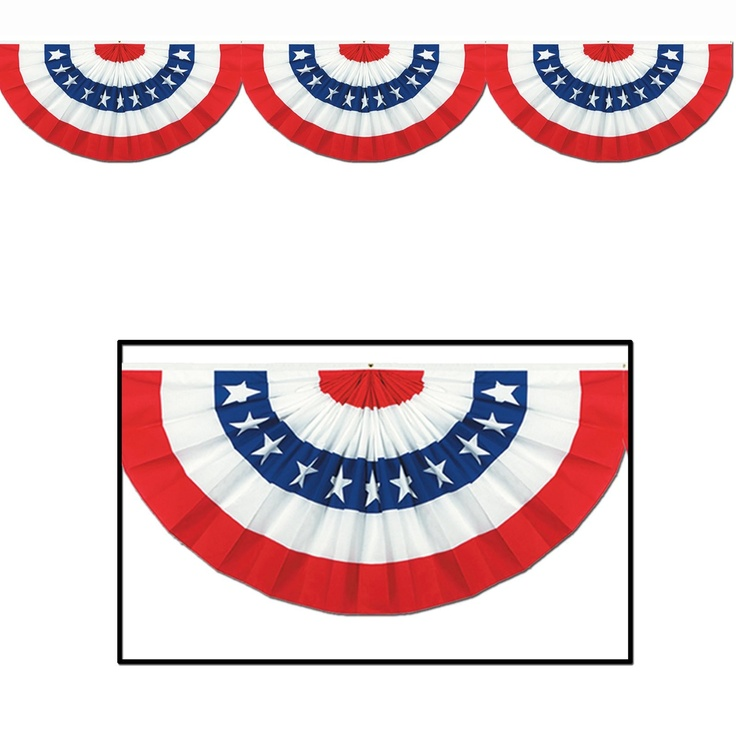 jointed patriotic bunting cutout includes 1 jointed patriotic bunting that features stars u0026