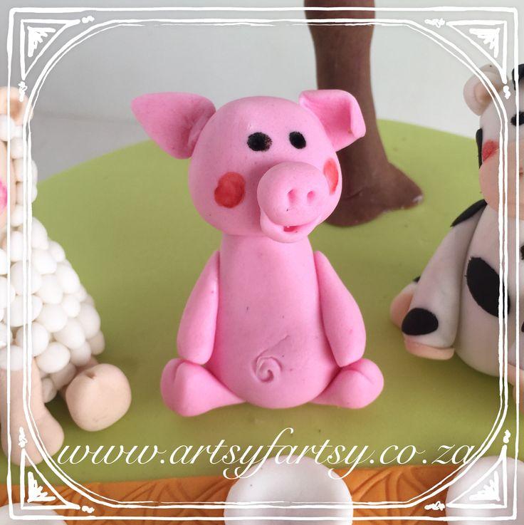 Piggy Sugar Figurine #piggysugarfigurine