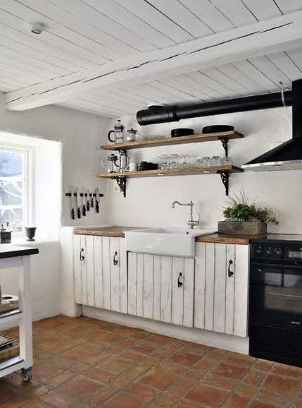 Usporiadanie kuchyne - Chata - angličtina, rustikálny