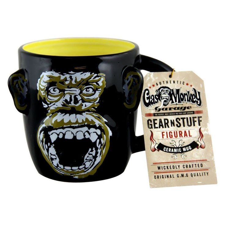 Gas Monkey Garage Sculpted Mug, 32 Oz., Black By Gas Monkey Garage Hold,Gmg1801