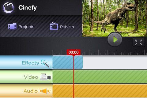 Cinefy table de montage pour appliquer des effets spéciaux sur vos vidéos.