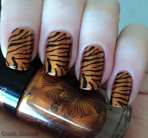 tiger nails looks easy to do!