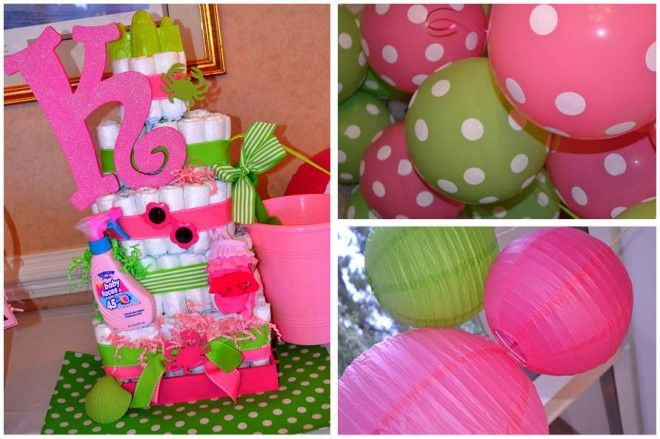 pink and green baby shower pink green and brown baby shower