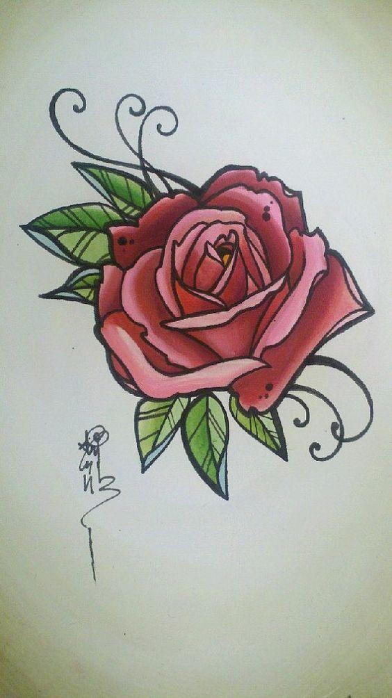 tatto rose red rose tattoos flower tattoos tattoos 3 vintage tattoo ...