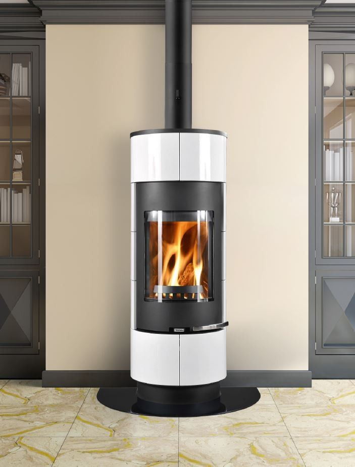 http://www.gr8fires.co.uk/thorma-cadiz-black-and-white-wood-burning-stove/?utm_source=Social&utm_medium=Social - Thorma Cadiz Black and White Wood Burning Stove / Woodburner