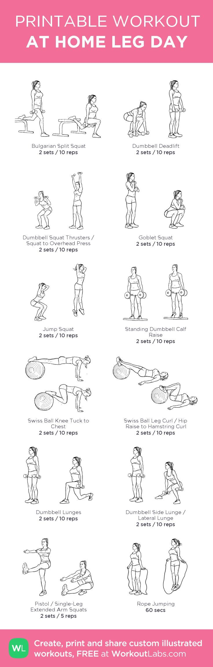 Awesome at-home leg workout!