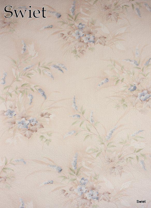 Pastel bloemen behang | Swiet