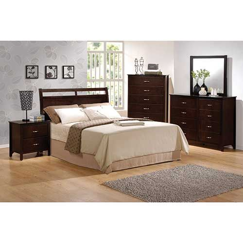 Crown Mark 6pc Ian Bedroom Group w/ Bedframe