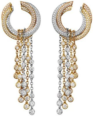 Diamonds earrings by #Cartier~wouldn't it be lovely to own these lovely earrings? #sparkle #beauty