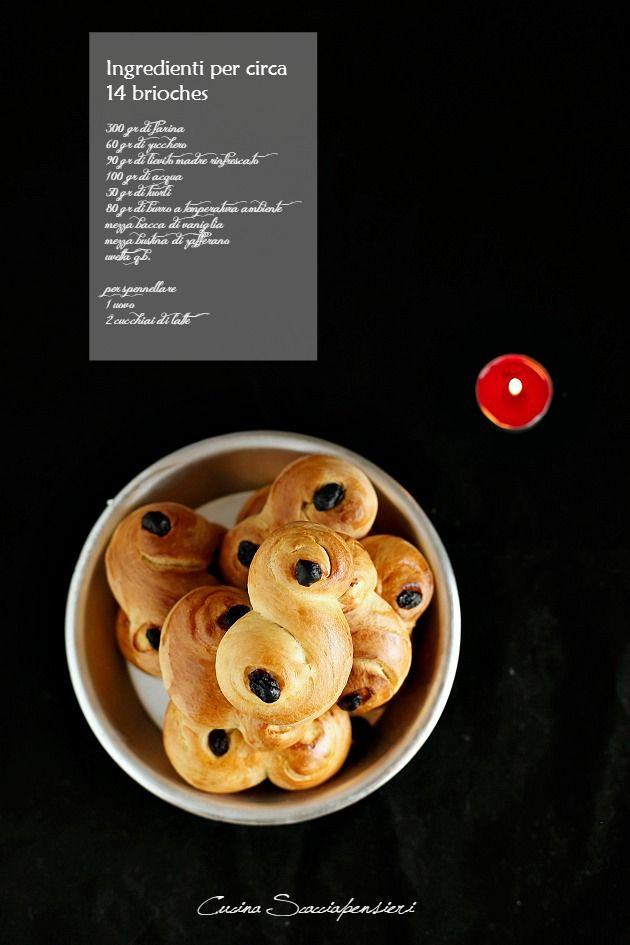 Cucina Scacciapensieri: Lussekatter: le brioches di Santa Lucia con lievito madre