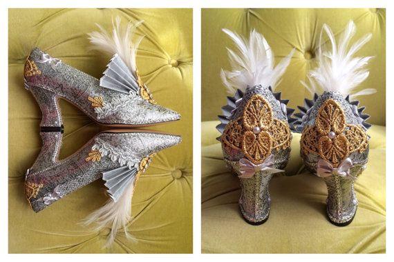 Traje de aleta tacones zapatos de 1920 estilo Cenicienta