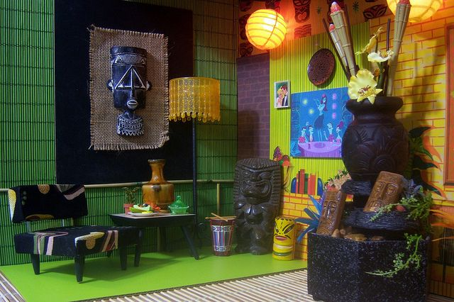 324 best images about pop cult tiki culture on pinterest for Tiki room decor