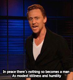 Tom Hiddleston Performs 'Henry V' Monologue - Hoppus on Music - Fuse. Video: https://www.youtube.com/watch?v=c5lhfKUFNN8