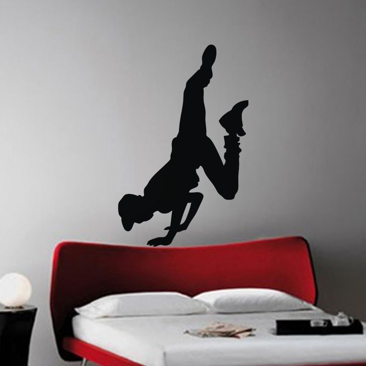 Hip-hop Dancer wall decal  This Hip Hop Dancer Wall Decal is edgy and on-trend. This design is inspired by classic breakdancing technique, making our decal both realistic and authentic. Perfect for hip-hop culture enthusiasts of any age, this decal will electrify whatever space it is in.
