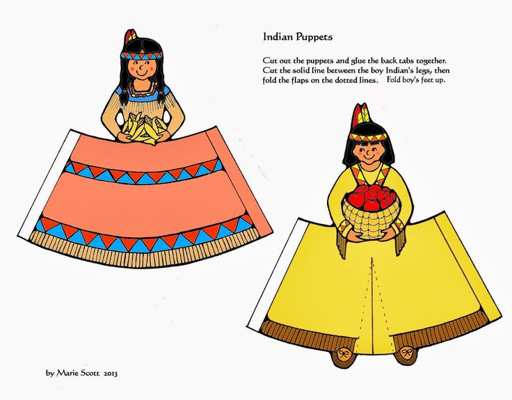 Paper Pilgrim and Indian Dolls           This is another fun and easy craft project for both adults and children. Follow the instructions p...