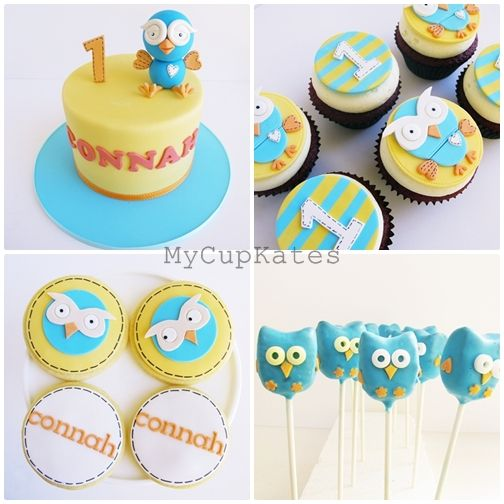 Cakes, Cupcakes & Cookies: Giggle and Hoot Party Desserts - by mycupkates.