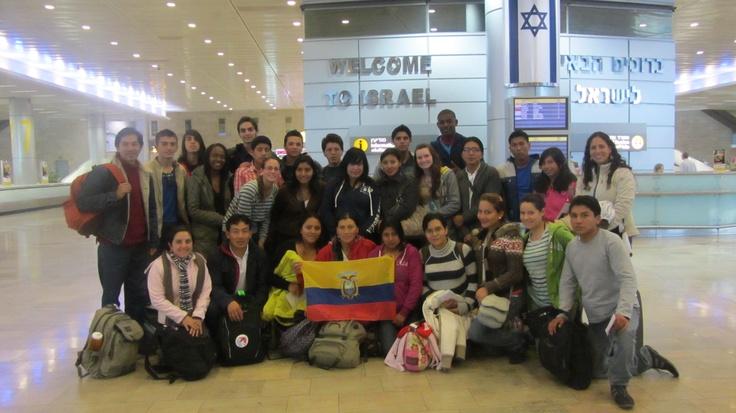 31 jóvenes ecuatorianos, de distintas zonas del país, llegaron a Israel para participar de un taller de formación desarrollado desde el 19 de febrero de 2012