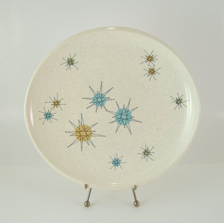Vintage Franciscan Starburst Dinner Plate Mid-Century Modern Atomic Dinnerware Dishes 1950s 1960s & 123 best Franciscan Starburst Dishes images on Pinterest | Vintage ...