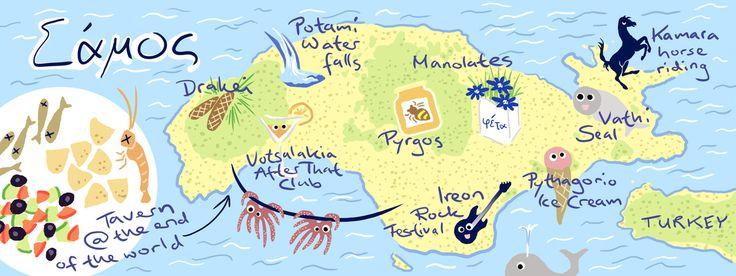 Samos Map Download