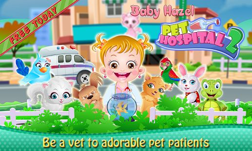 Show off your vet skills and help Baby Hazel to make the sick pets healthy and happy https://play.google.com/store/apps/details?id=air.com.BabyHazelGames.BabyHazelPetHospital2
