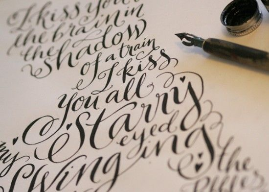 Hand Lettering from Kate Forrester: Hands Written, Tattoo Fonts, Learning Calligraphy, Kate Forrest, Hands Letters, Calligraphy Art, Handwritten, A Tattoo, Typography