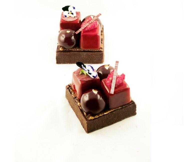 Plus de 1000 id es propos de desserts individuels sur pinterest mousse g teaux et desserts - Glacage miroir sans glucose ...