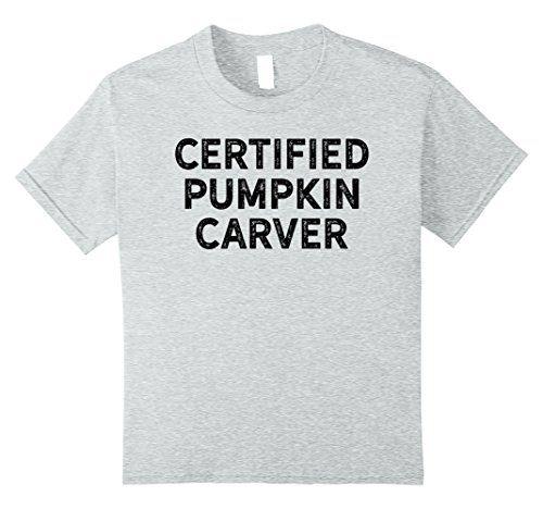 Kids Certified Pumpkin Carver Shirt for Halloween Black 1...