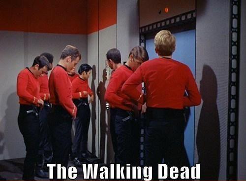 The Walking Dead: Redshirt, The Walks Dead, The Walking Dead, Funny, Stars Trek, Startrek, The Originals, Red Shirts, Star Trek