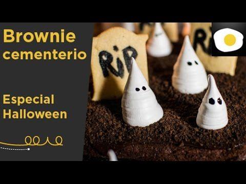 Brownie cementerio para Halloween (Receta) | Alma Obregón | Halloween