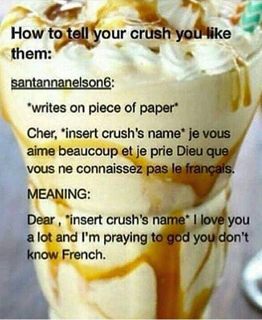 Unique way to tell your crush you like them in French