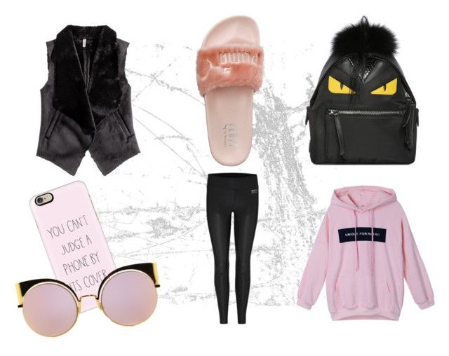 Sporty Fur by messypineapple93 on Polyvore featuring Y-3 Sport, Puma, Fendi and Casetify