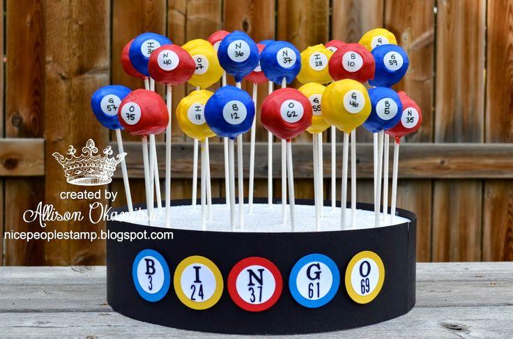 nice people STAMP!: Stampin' Bingo Theme Party Cake Pops by Allison Okamitsu
