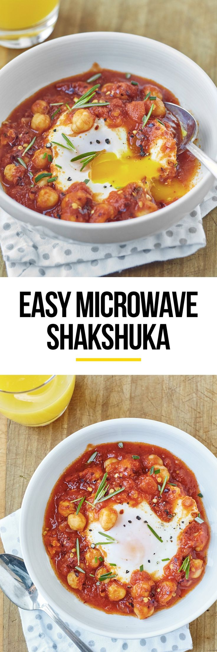 Easy Single Serve Microwave Shakshuka Recipe. This SIMPLE and healthy recipe is perfect for dinners and breakfasts or even lunches at the office. Make it in a cup or in a bowl - these microwave egg recipes for one are perfect meals for college students!